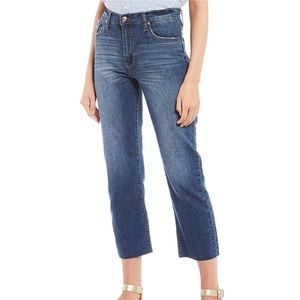 Celebrity Pink High Rise Raw Hem Straight Jeans